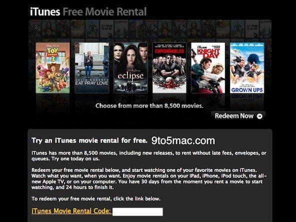 Free iTunes Movie Rentals | iOSnoops