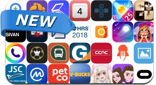 Newly Released iPhone & iPad Apps - May 3, 2018