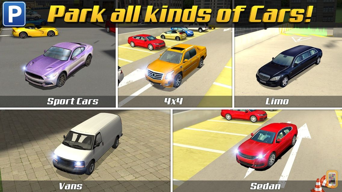 Multi Level 3 Car Parking Game Real Driving Test Run Racing For