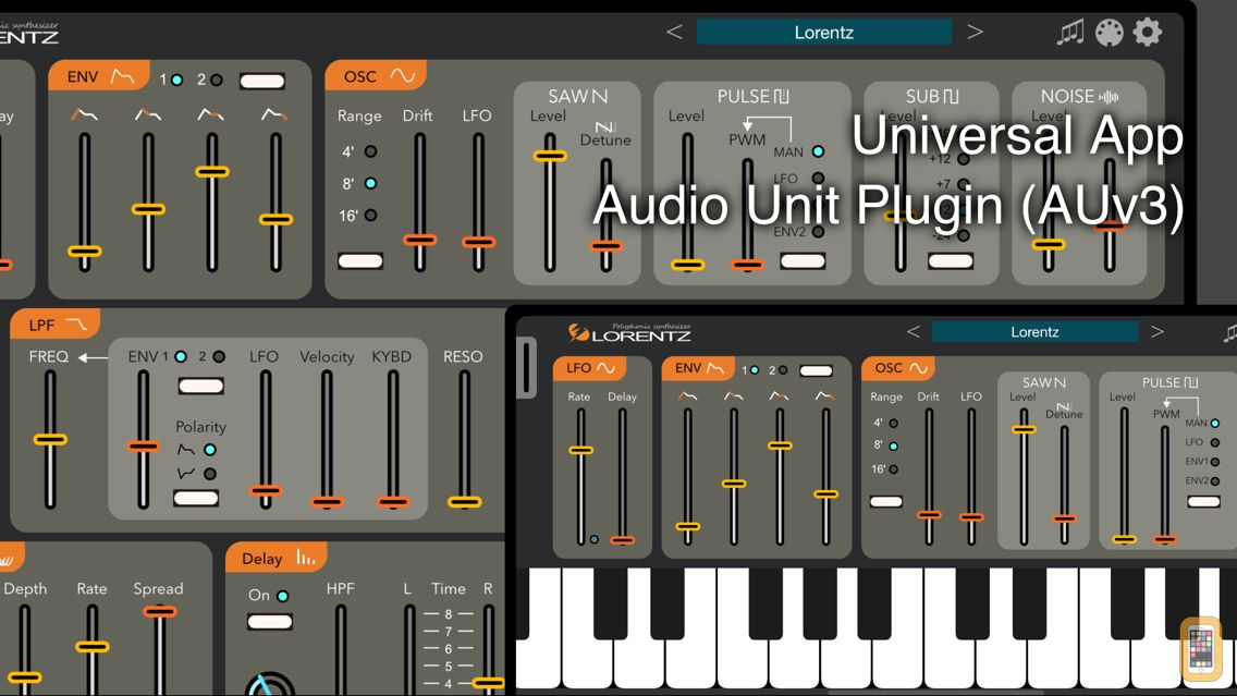 Screenshot - Lorentz - AUv3 Plugin Synth