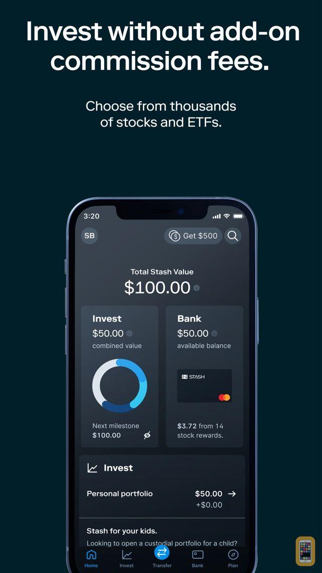 Screenshot - Stash: Invest. Bank. Save