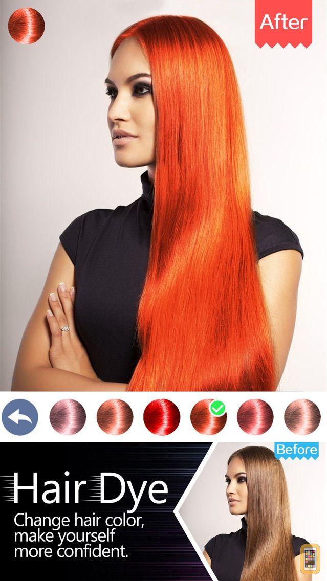 Screenshot - Hair Dye-Wig Color Changer,Splash Filters Effects