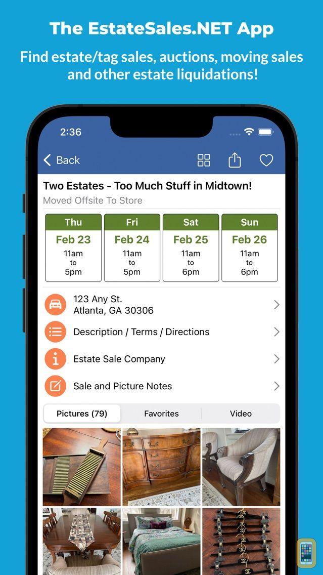 Screenshot - Estate Sales - EstateSales.NET
