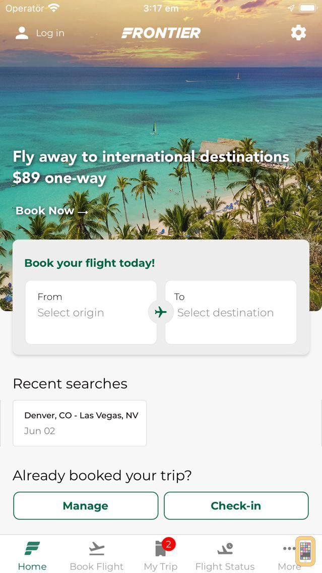 Screenshot - Frontier Airlines