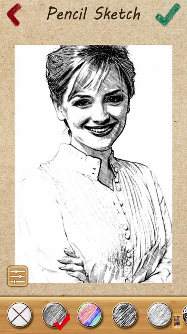 Screenshot - Pencil Sketch Photo Camera Pad