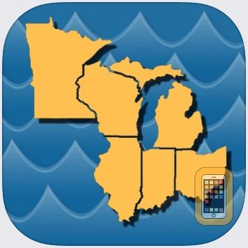 Stream Map USA - Great Lakes by Gogal Publishing Company (Universal)