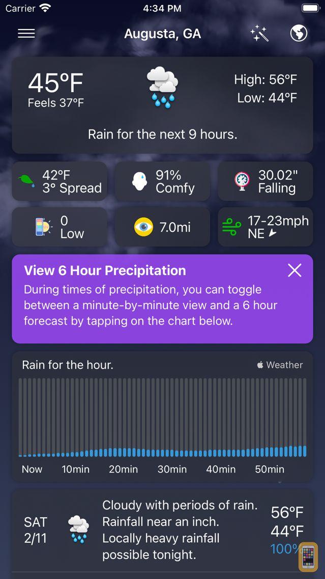 Screenshot - Forecast Bar - Weather + Radar