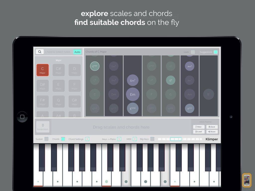 Screenshot - kord - Find Chords and Scales
