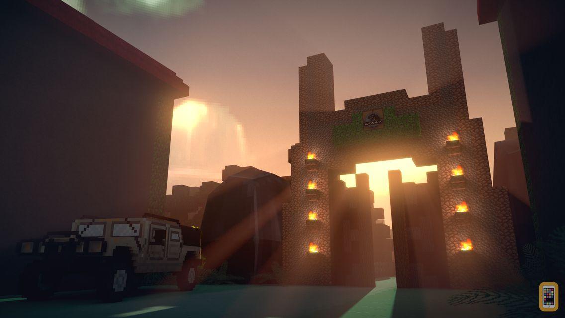Screenshot - Jurassic Block Hunter - Dino Zoo Rail Shooter With Skins Uploader for Minecraft