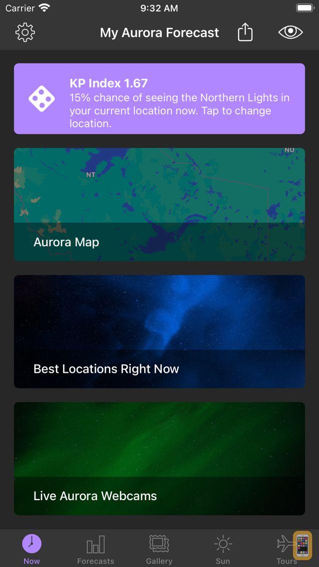 Screenshot - My Aurora Forecast & Alerts