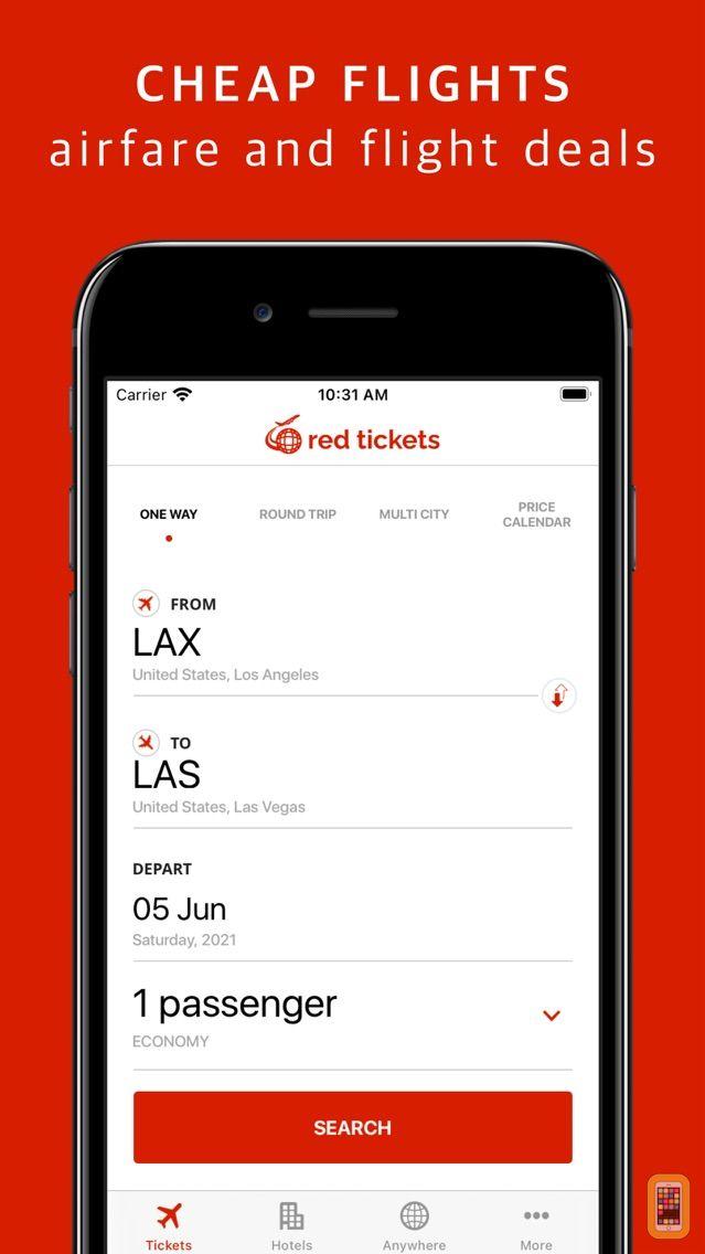 Screenshot - RED TICKETS - Cheap Flights.