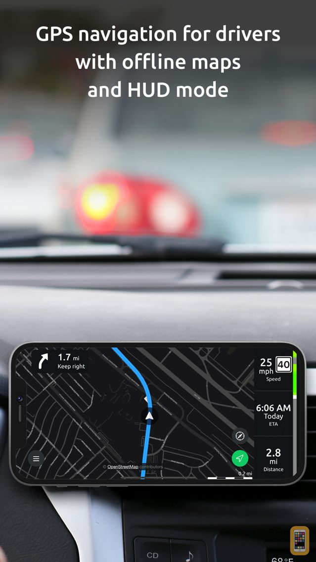 Screenshot - Hudway Go: Navigation with HUD