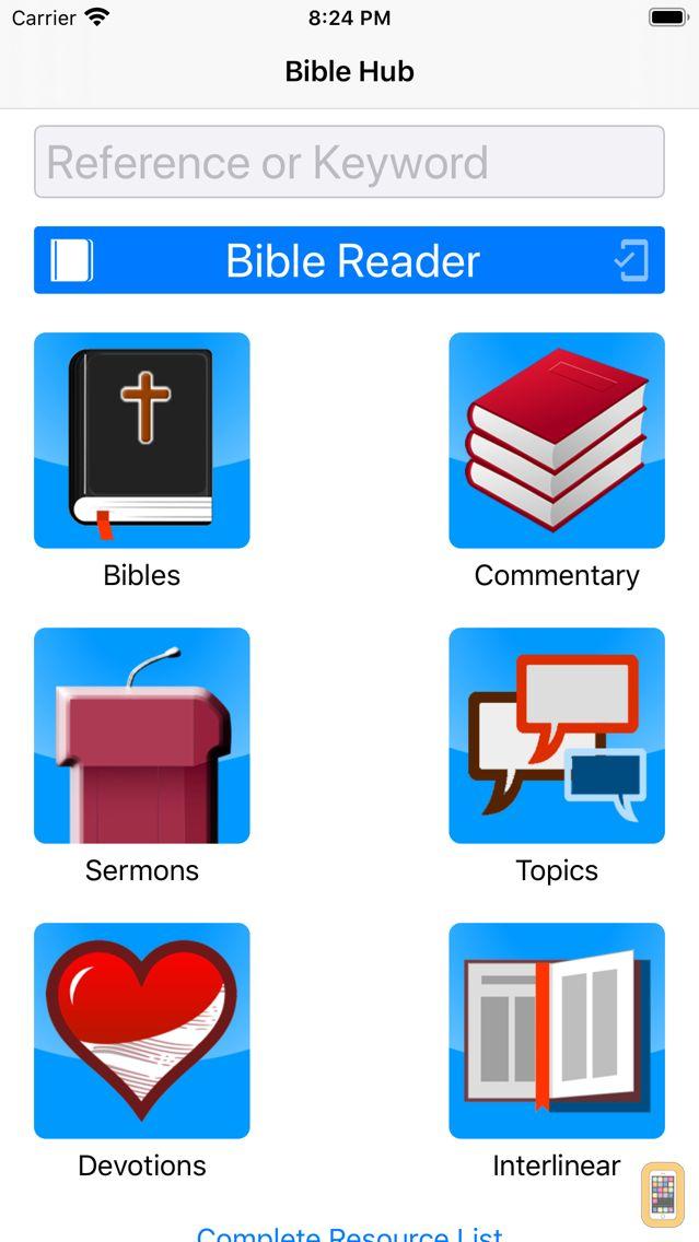 Screenshot - Bible Hub