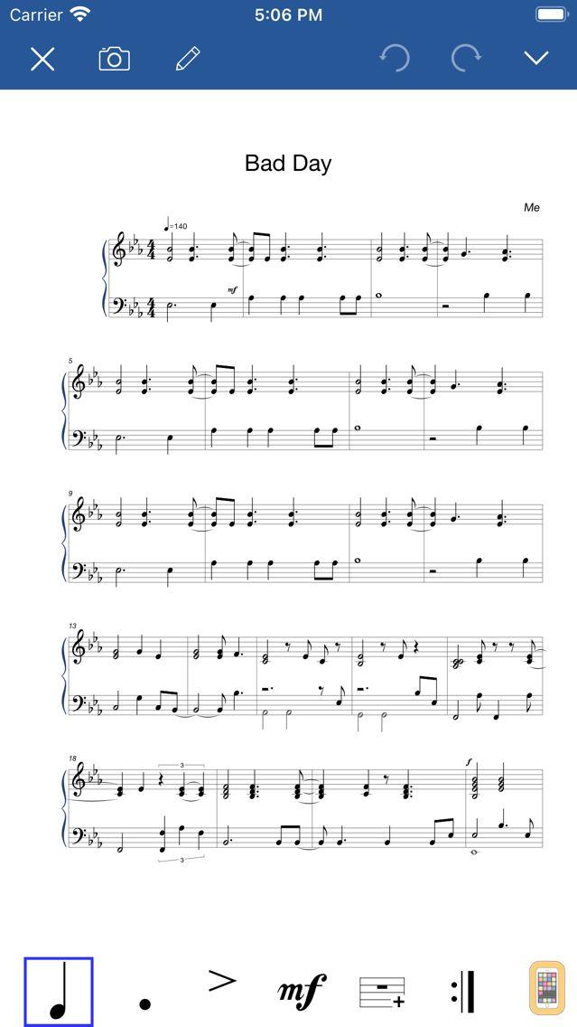 Screenshot - Notation Pad-Sheet Music Score