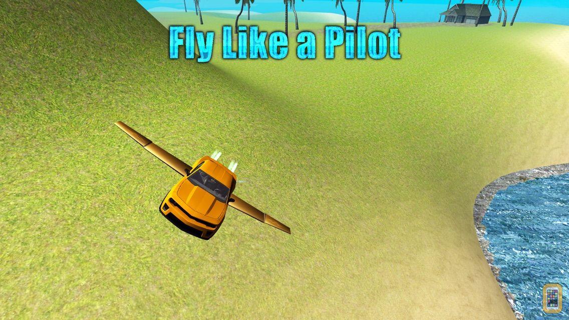Screenshot - Flying Car Driving Simulator Free: Extreme Muscle Car - Airplane Flight Pilot