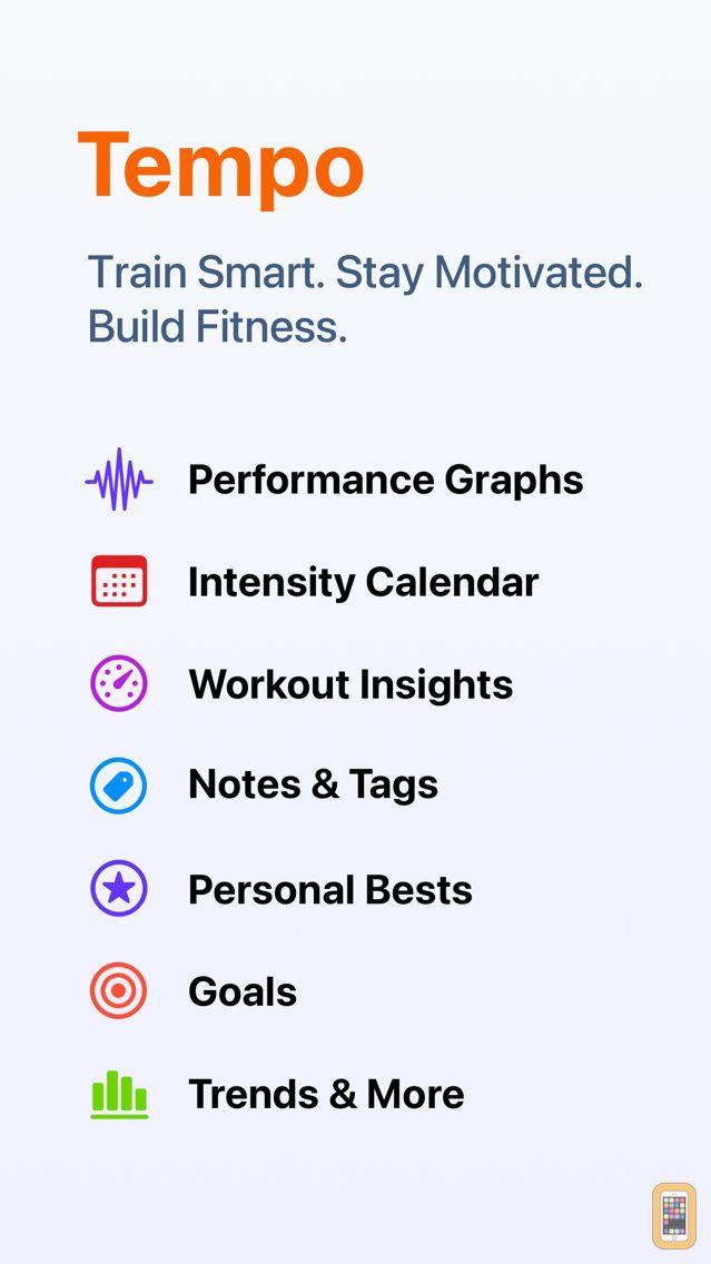 Screenshot - Tempo - Training Log for Runners