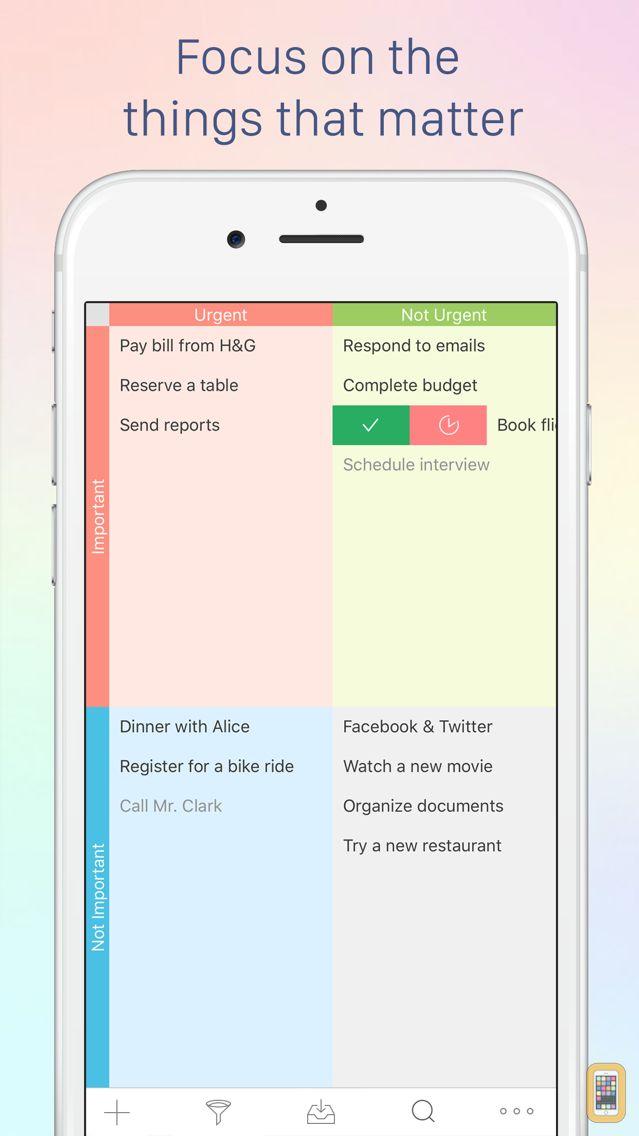 Screenshot - Focus Matrix – Task Manager based on the Eisenhower Method