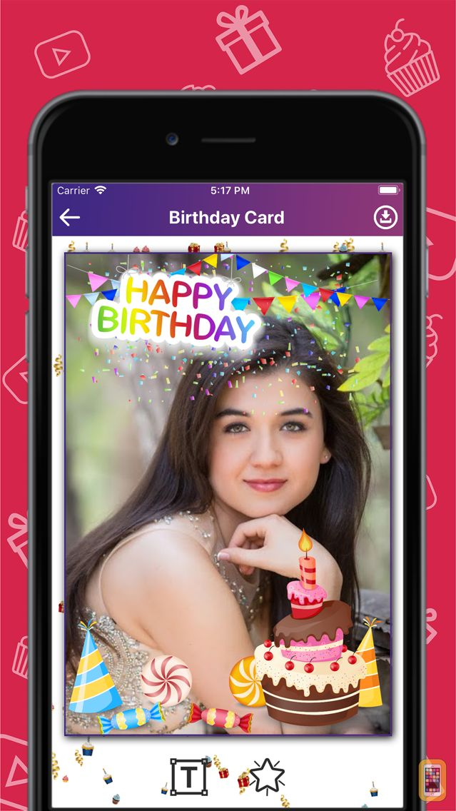 Happy Birthday Cake With Edit Name And Photo For Iphone Ipad App
