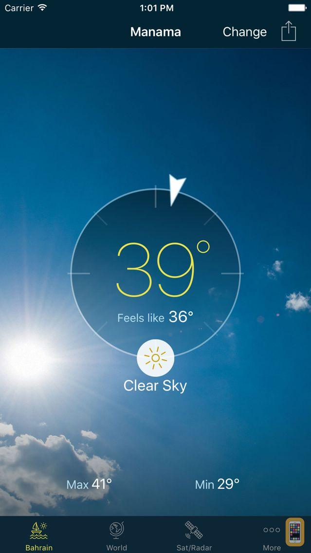 Screenshot - Bahrain Weather