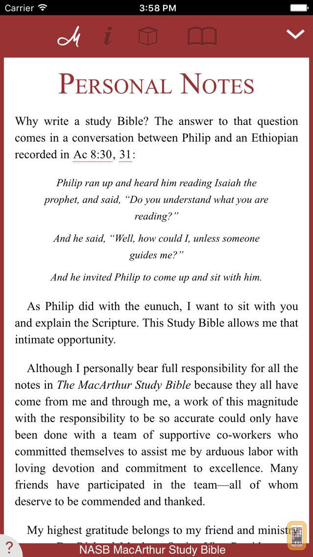 Screenshot - NASB MacArthur Study Bible