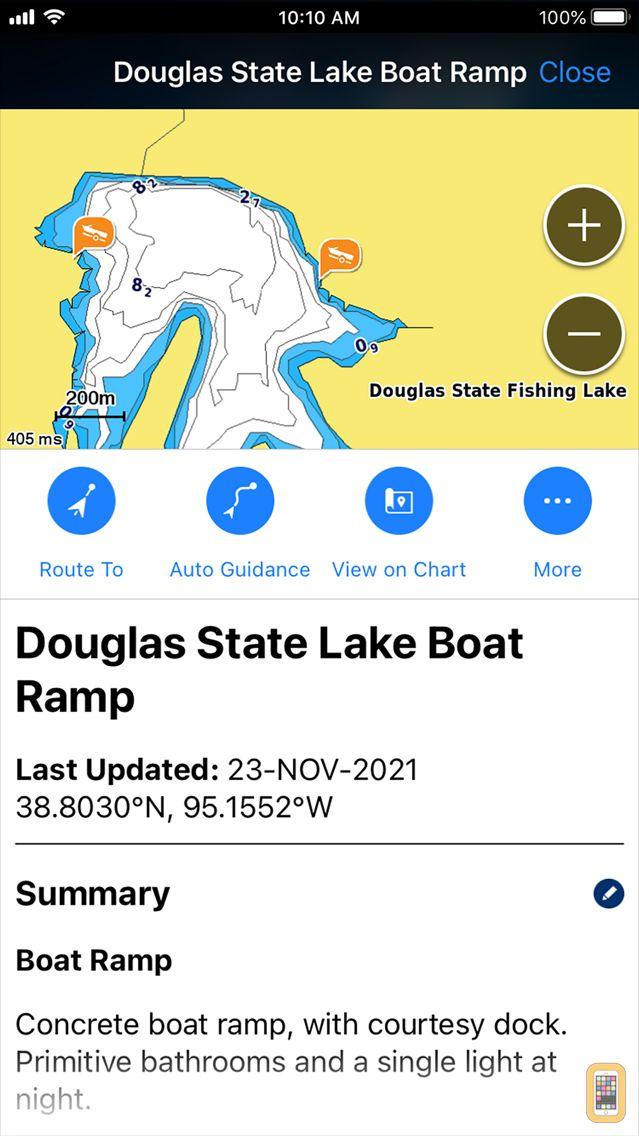 Screenshot - Garmin ActiveCaptain