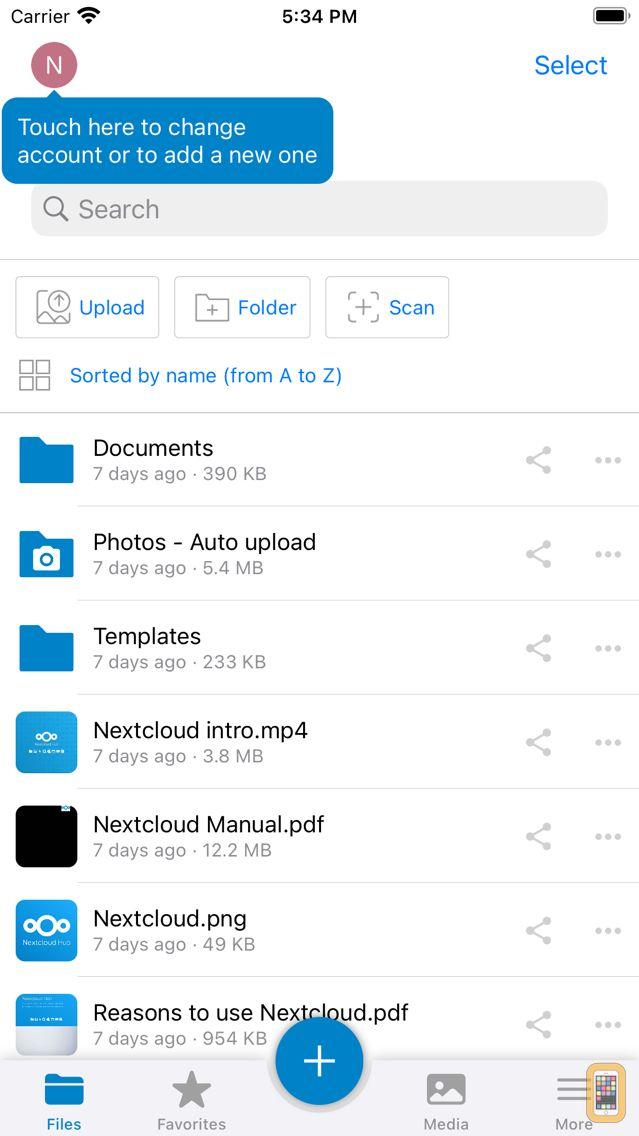 Screenshot - Nextcloud