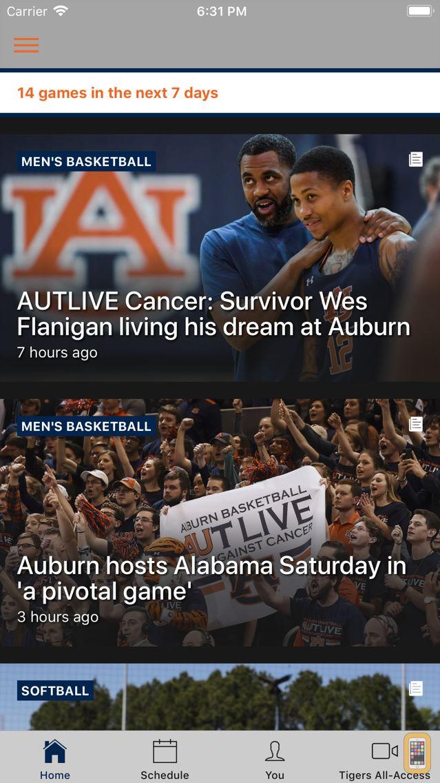 Screenshot - Auburn Athletics
