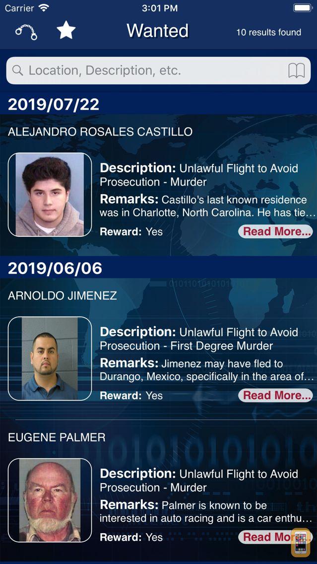 Screenshot - FBI Wanted
