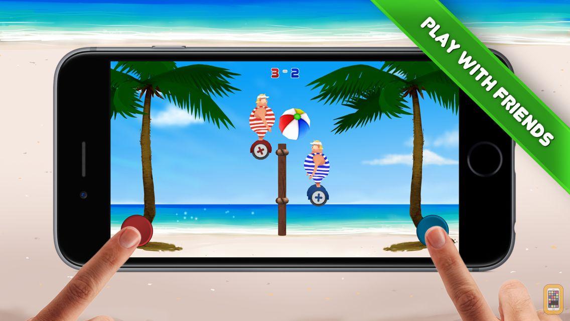 Screenshot - Volley Sumos - Two-player versus game