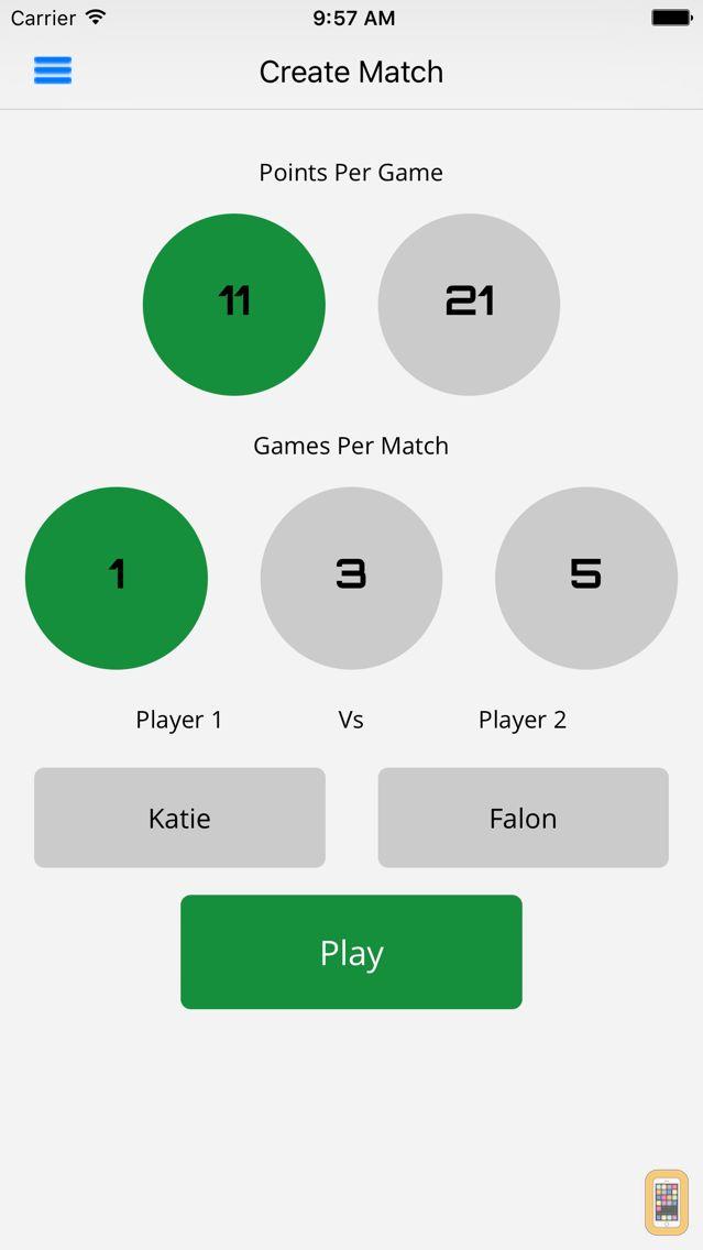 Screenshot - Ping Pong Scorer Pro