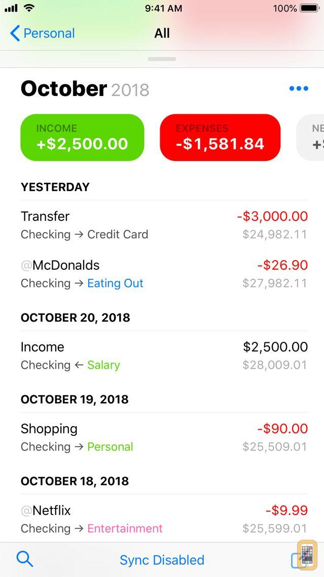 Screenshot - Finances 2