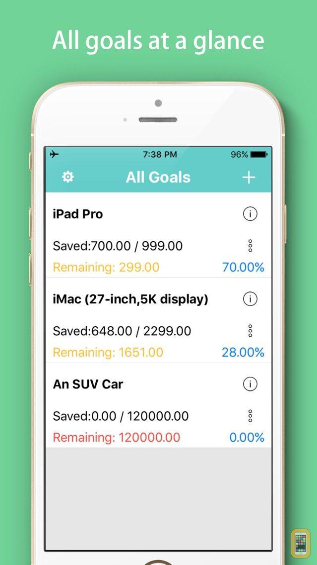 savings goals tracker daily saving money box for iphone app info