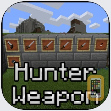 Hunter Weapons Add-On for Minecraft PE: MCPE by Nadeem Mughal (Universal)