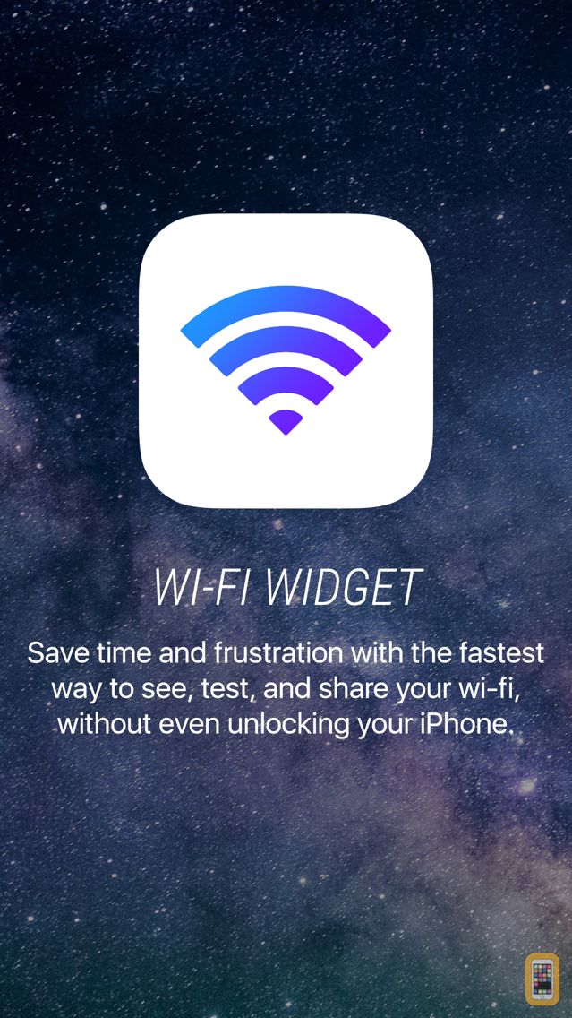 Screenshot - Wifi Widget - See, Test, and Share Wi-Fi