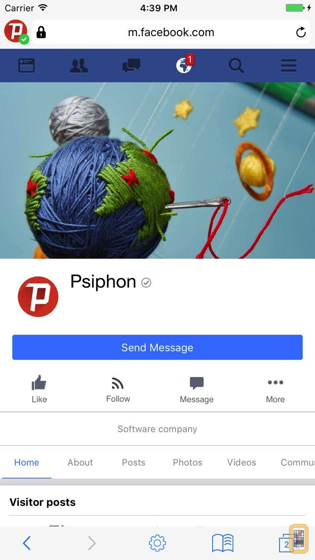 Screenshot - Psiphon Browser
