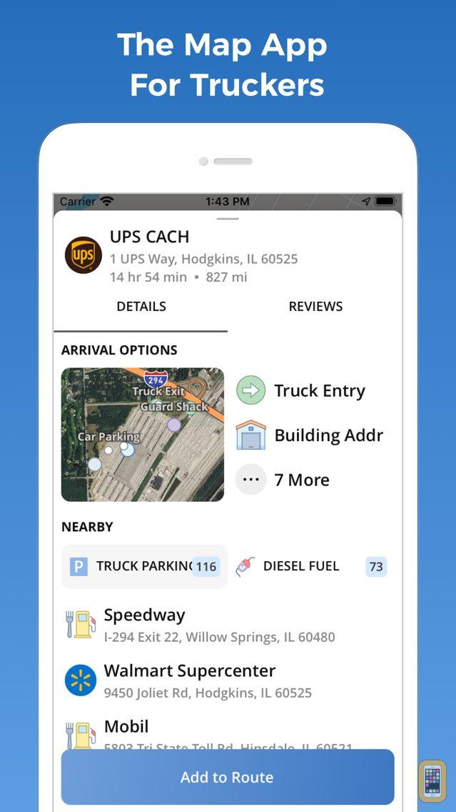 Screenshot - TruckMap - Truck GPS Routes