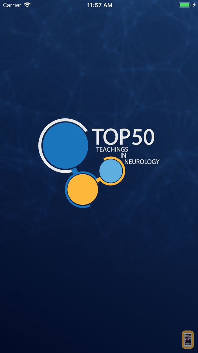 Screenshot - Top 50 Teachings in Neurology