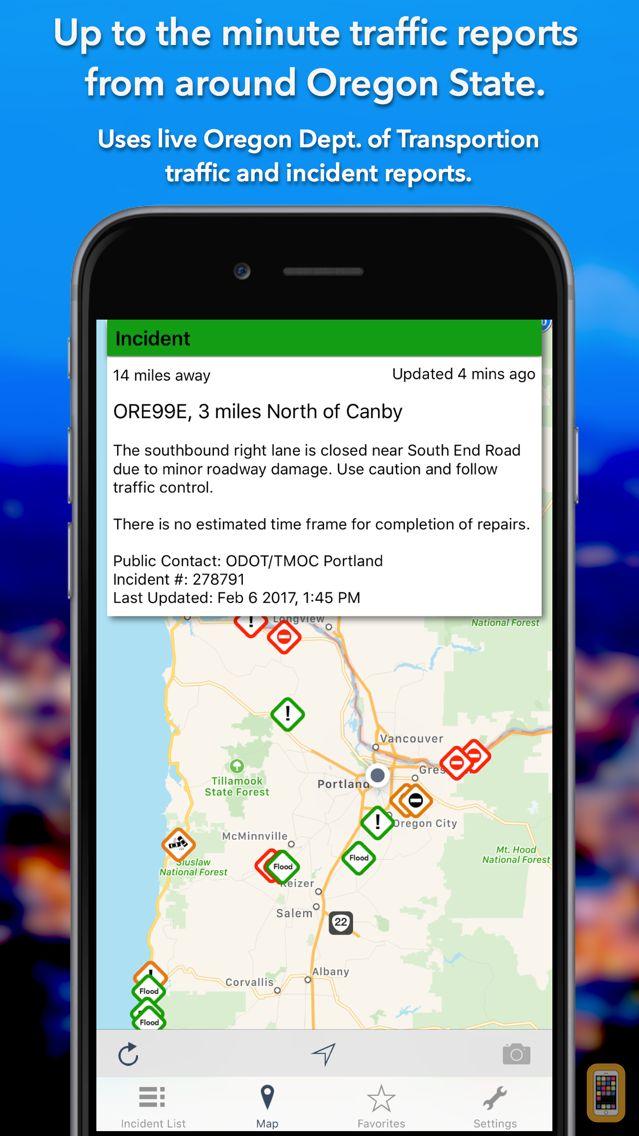 Screenshot - Oregon Roads Traffic