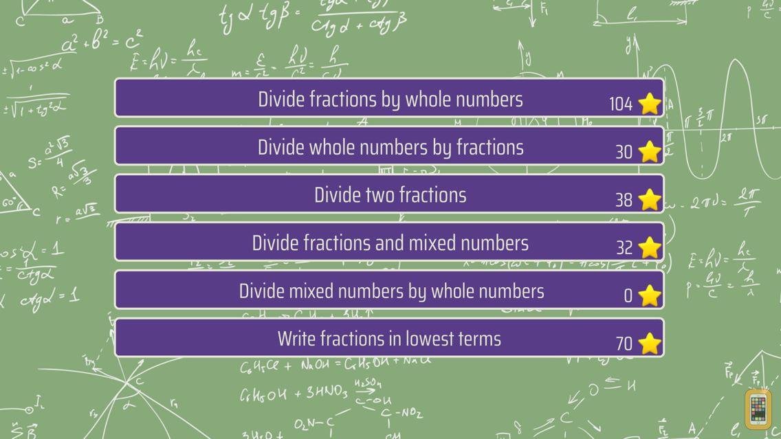 Screenshot - Dividing Fractions Trainer