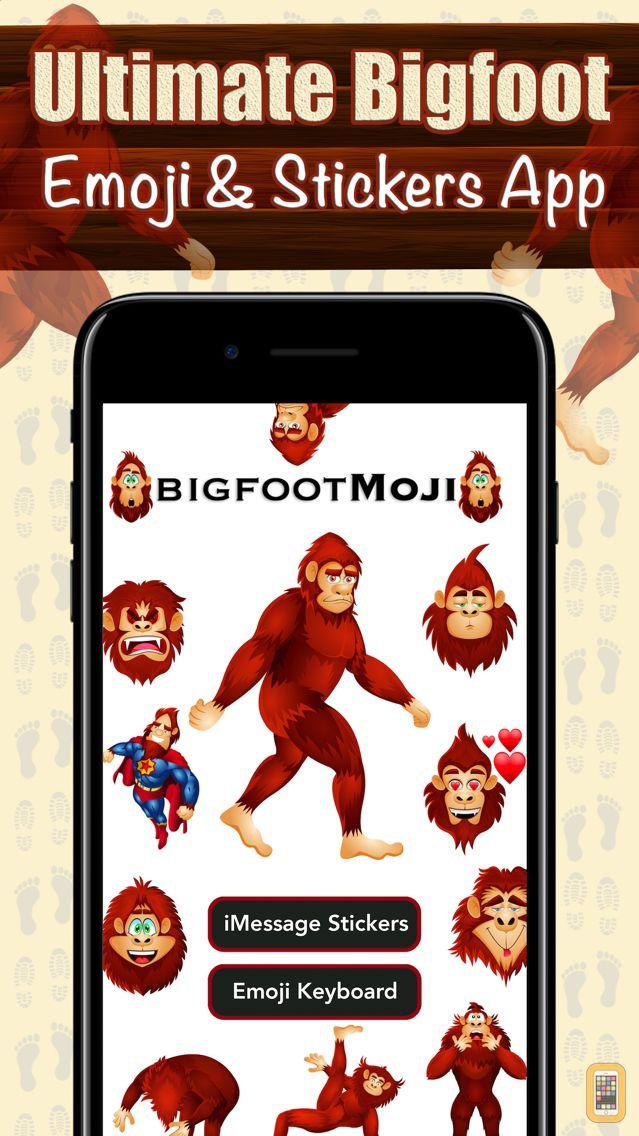 Screenshot - BigfootMoji – Crazy Sasquatch & Bigfoot Emojis