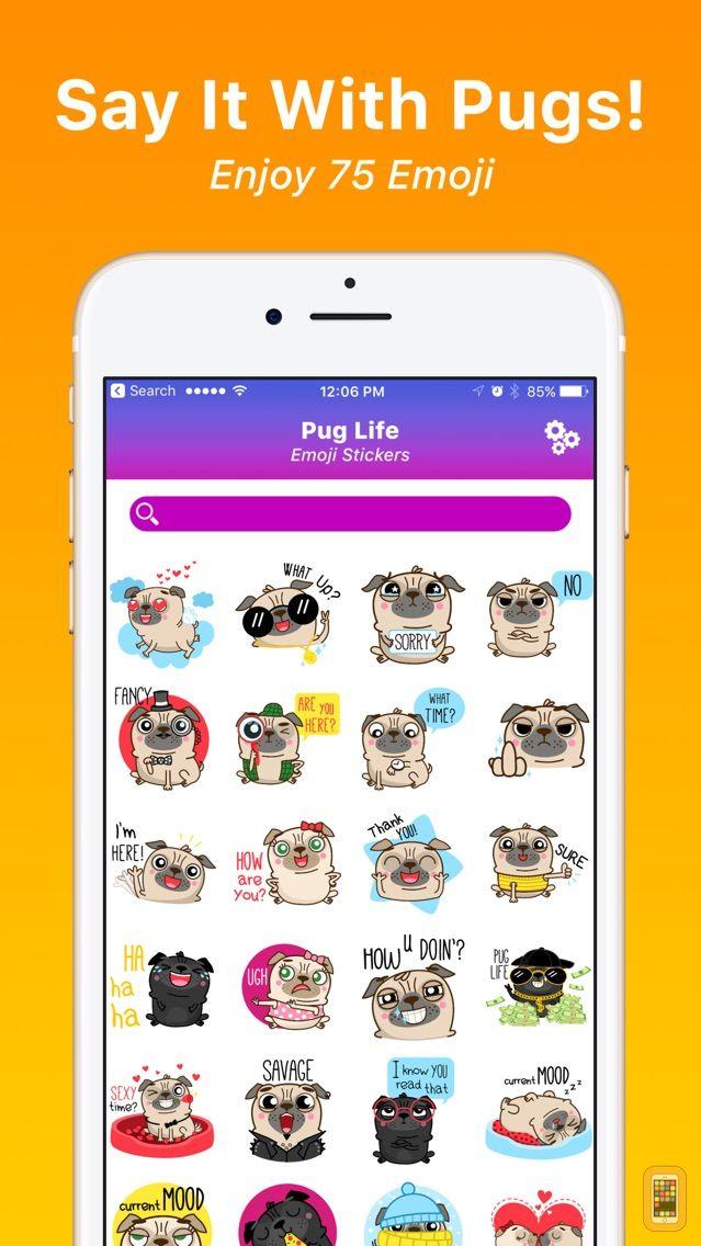 Screenshot - Pug Life Emoji Stickers