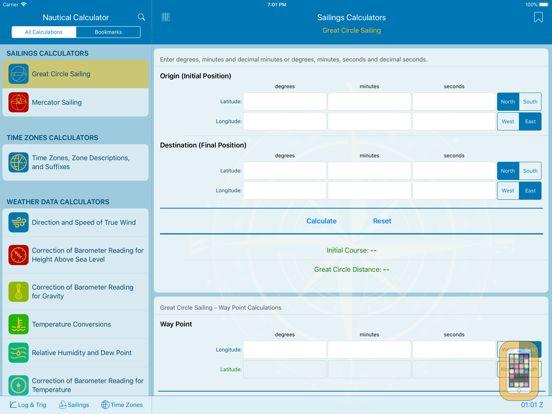 Nautical Calculator For IPhone IPad App Info Stats IOSnoops - Above sea level calculator