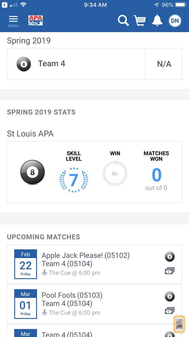 Screenshot - APA Pool League