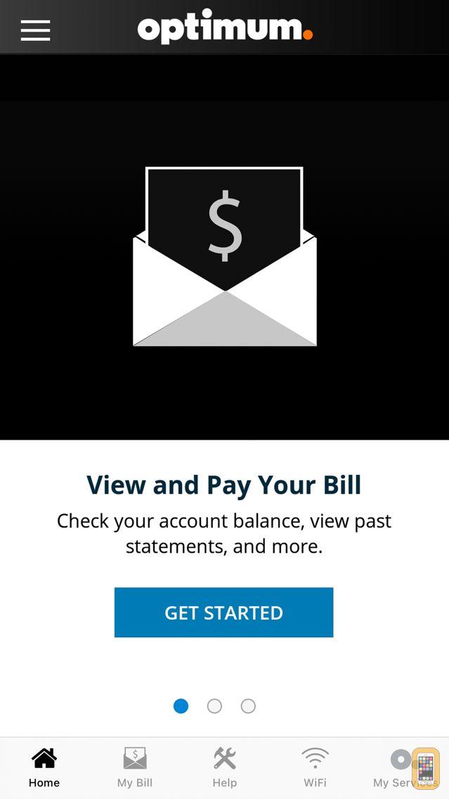 Screenshot - Optimum Support App