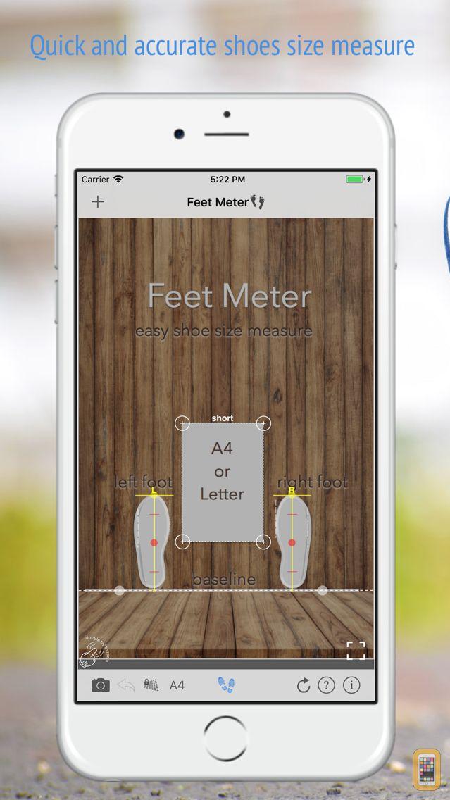 Screenshot - Feet Meter  measure shoe size
