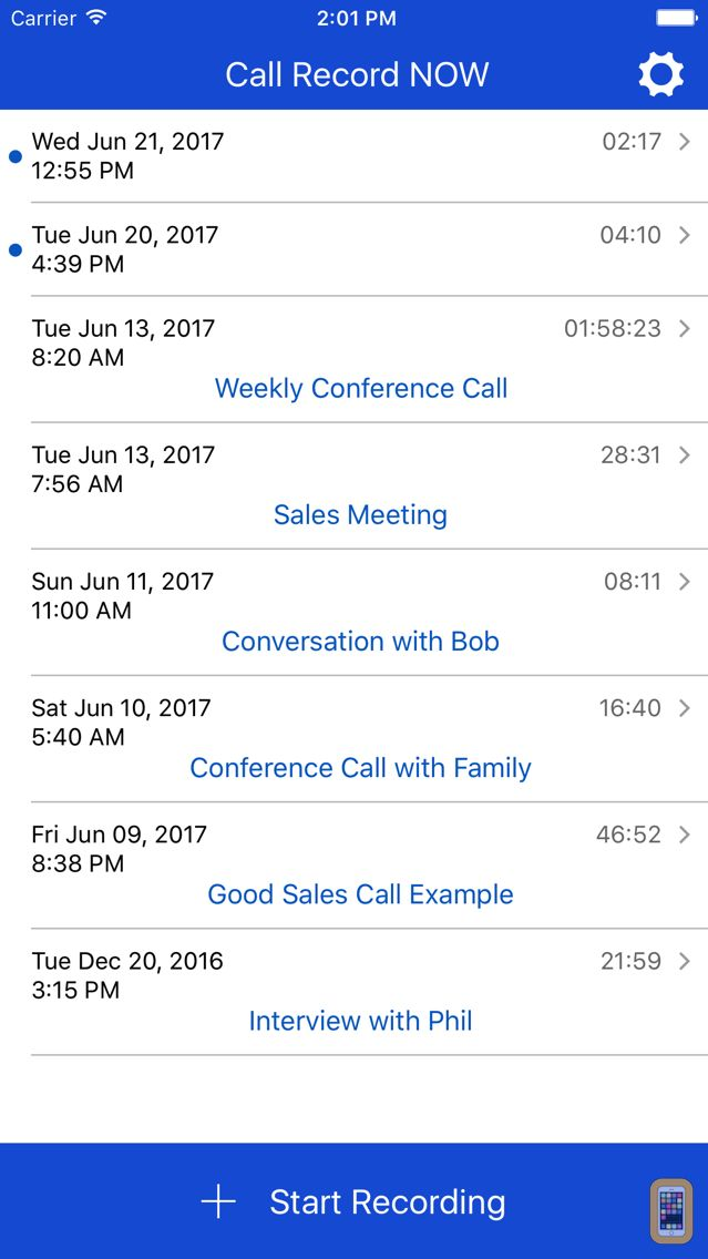 Screenshot - Call Record NOW