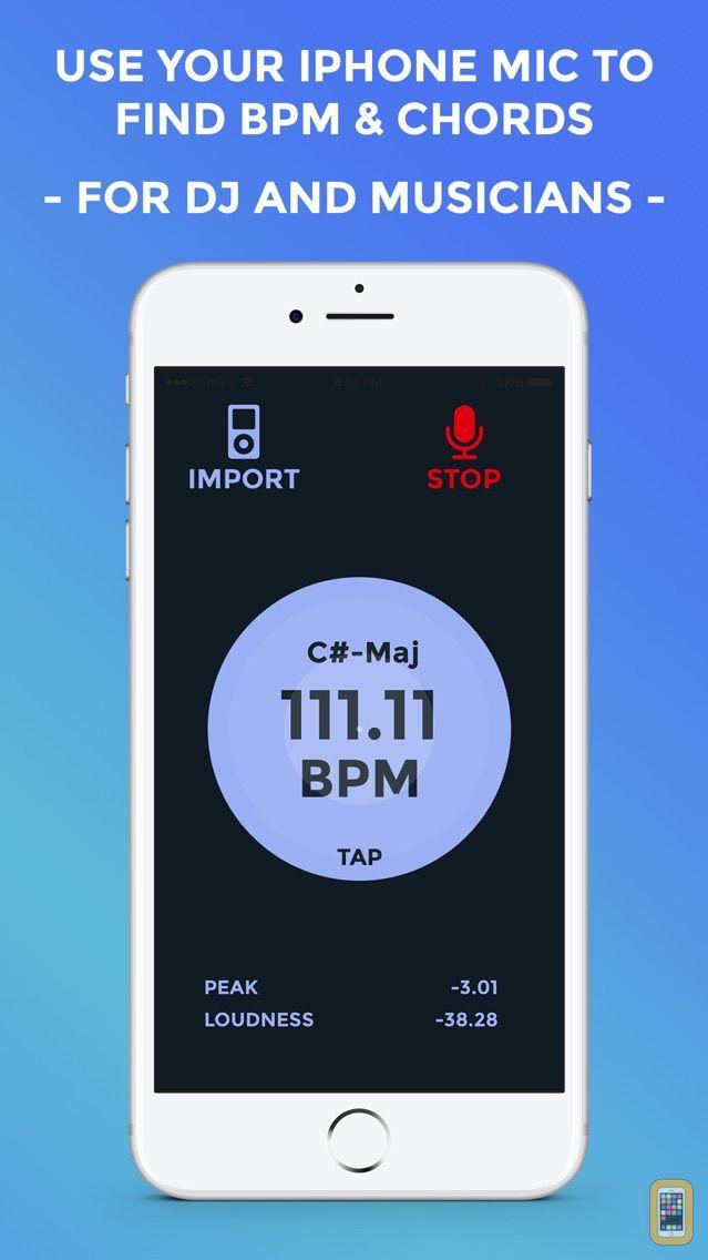 Screenshot - BPM & Chords Live Analyzer - DJ and Musicians Tool