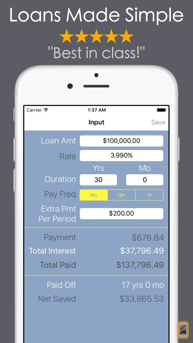 Screenshot - Loan Calculator PRO - Mortgage