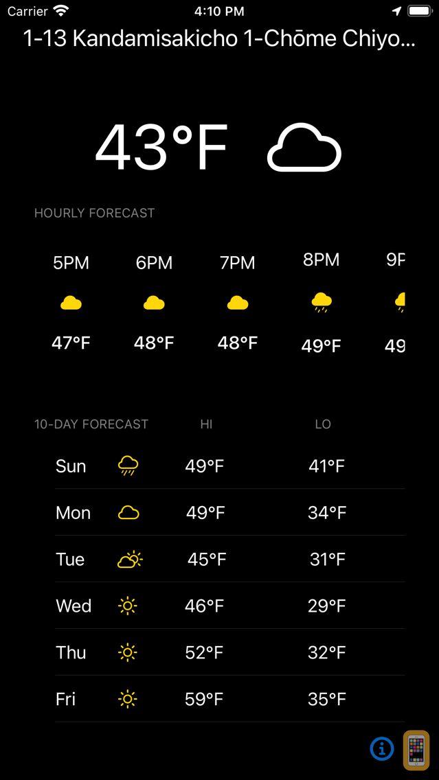 Screenshot - Currently - Minimalist Weather