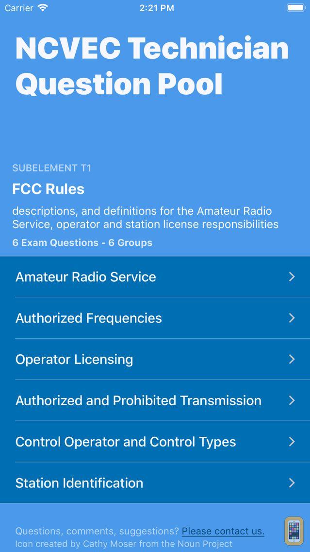 Screenshot - Ham Radio Exam Prep - Tech